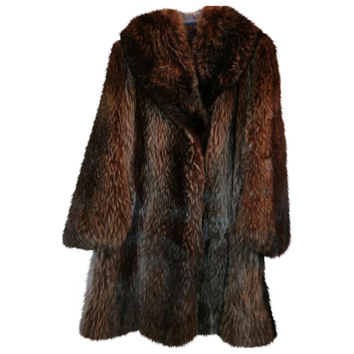 - Manteau   pour femme en racoon - marron