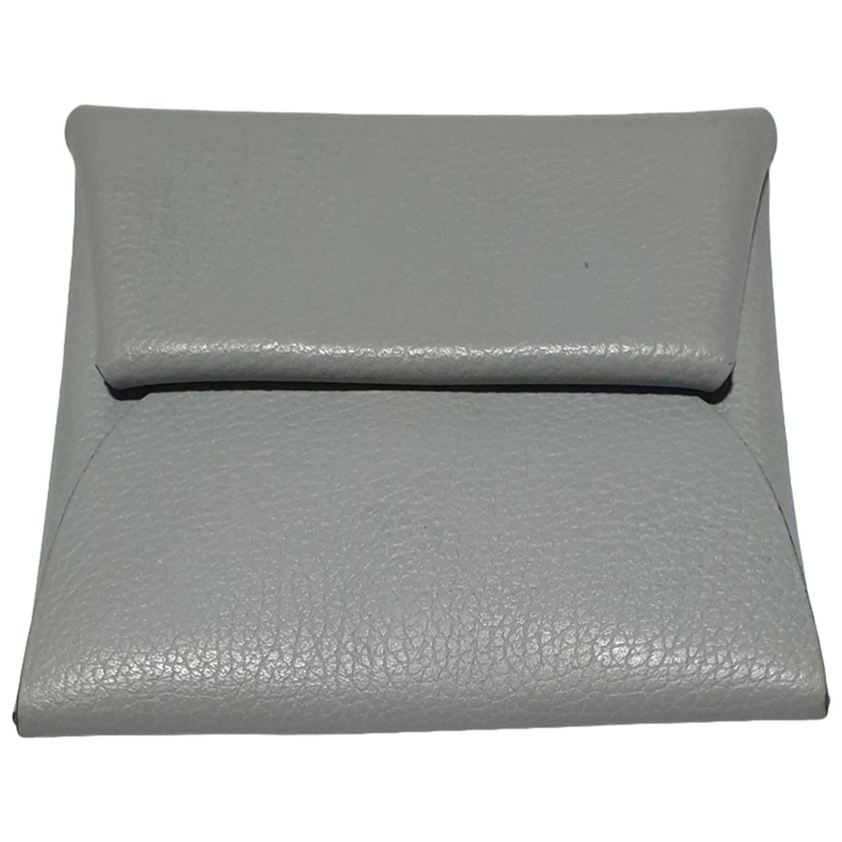 Hermes - Petite maroquinerie   pour homme en cuir - gris