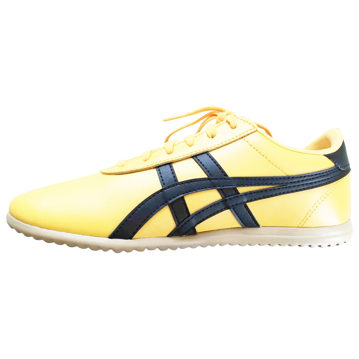 Onitsuka Tiger \N Yellow Leather Trainers for Women 38 EU