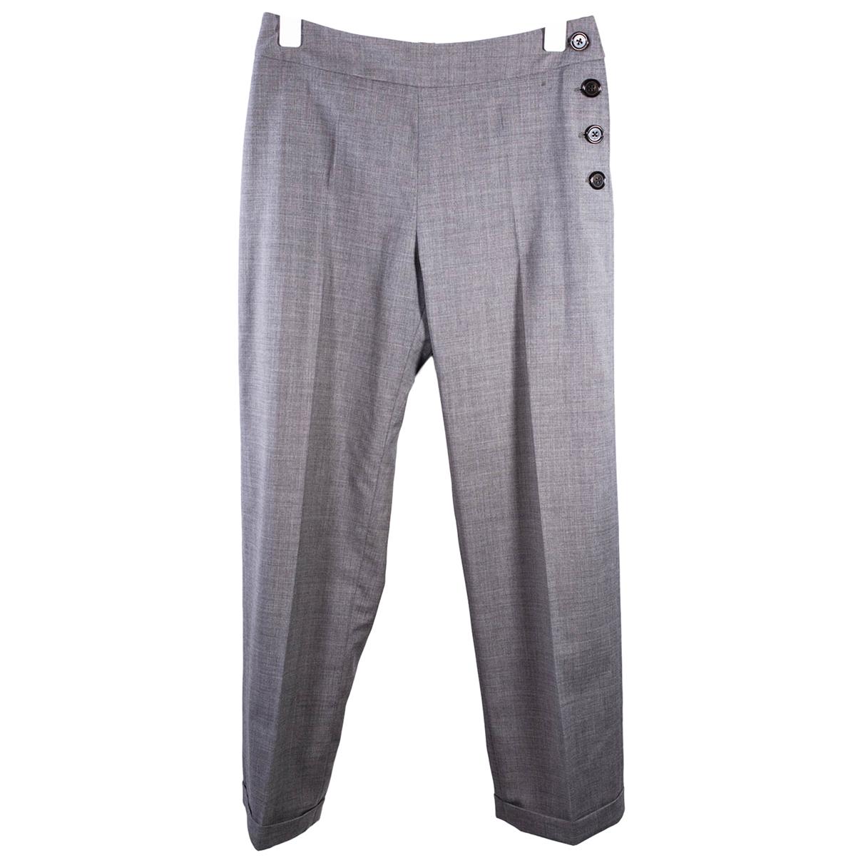 Burberry N Grey Wool Trousers for Women 38 FR