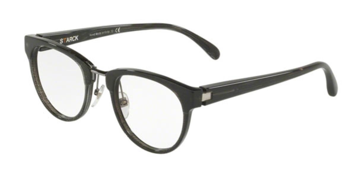 Starck SH3043 0003 Men's Glasses Black Size 51 - Free Lenses - HSA/FSA Insurance - Blue Light Block Available