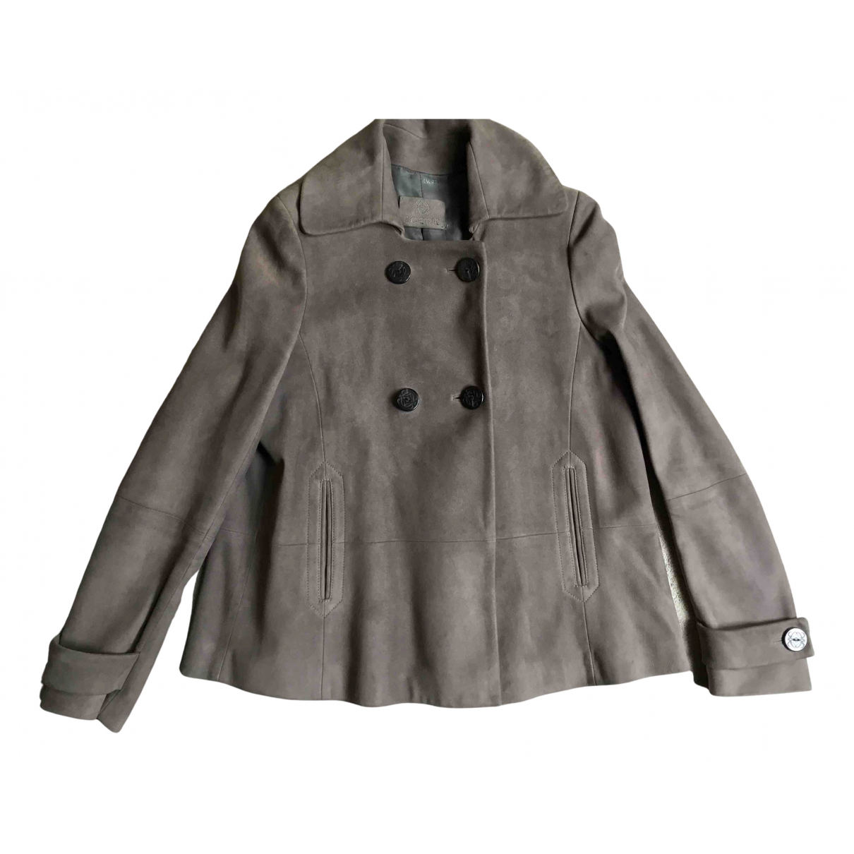 Loewe N Beige Suede jacket for Women 38 FR
