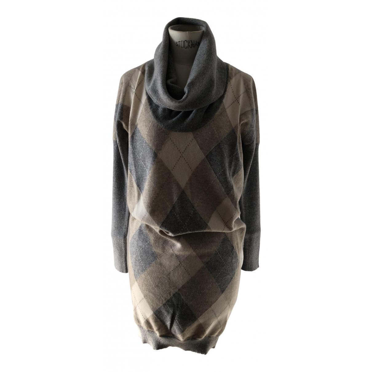 Ballantyne N Grey Cashmere dress for Women 40 IT