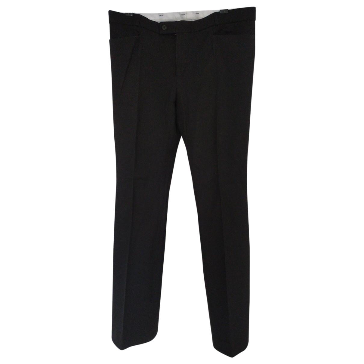 Joseph \N Black Cotton Trousers for Women 44 IT