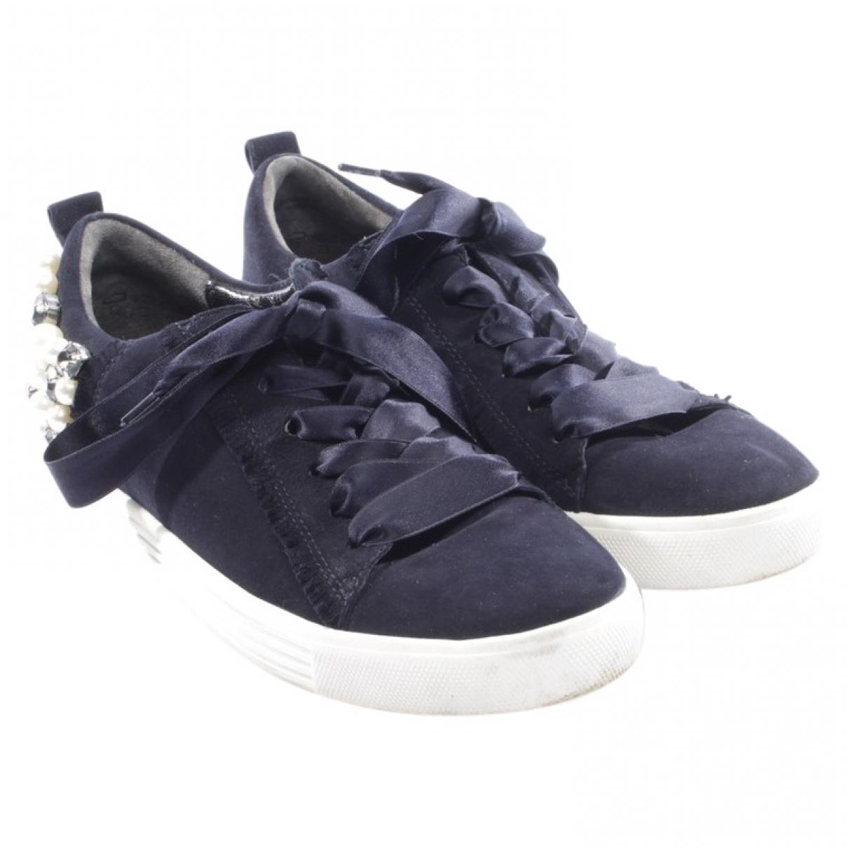 Kennel Und Schmenger \N Blue Leather Flats for Women 39.5 EU