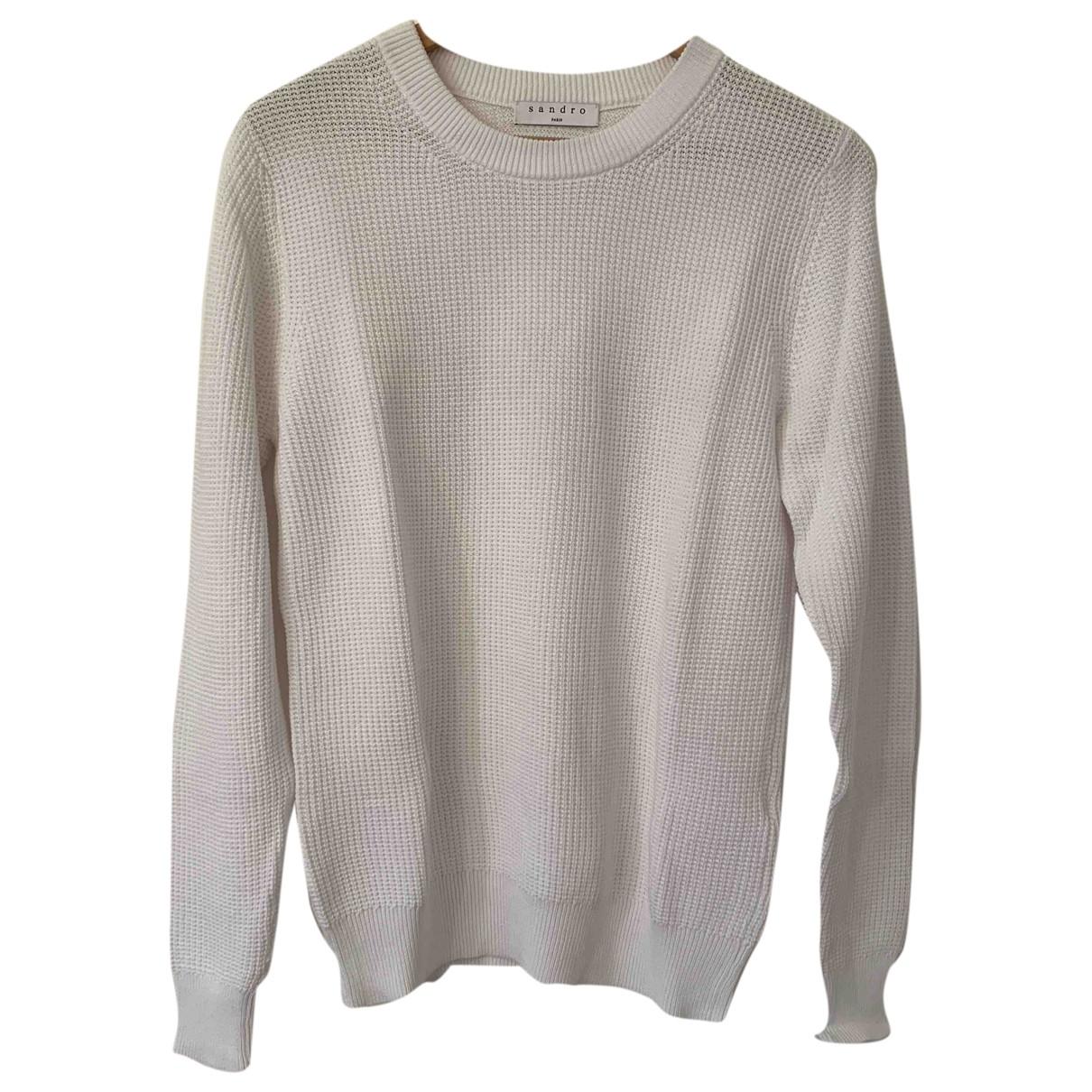 Sandro \N Pullover.Westen.Sweatshirts  in  Weiss Baumwolle