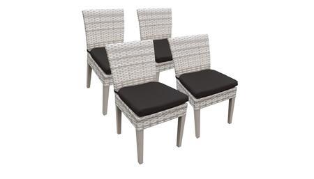TKC245b-ADC-2x-C-BLACK 4 Side Chairs - Beige and Black