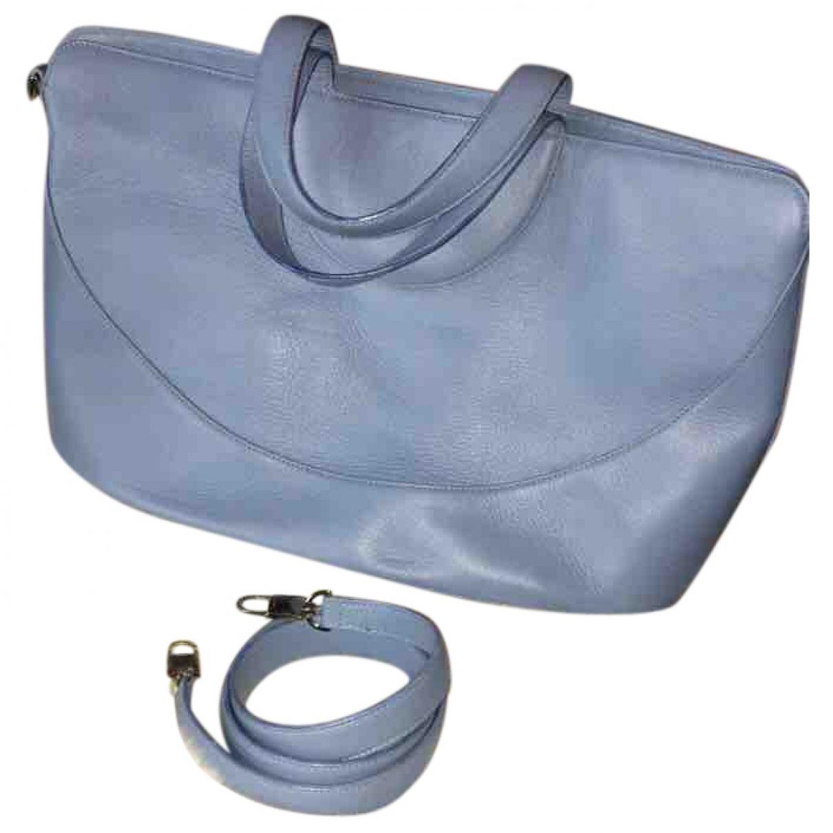 Bvlgari \N Handtasche in  Blau Leder