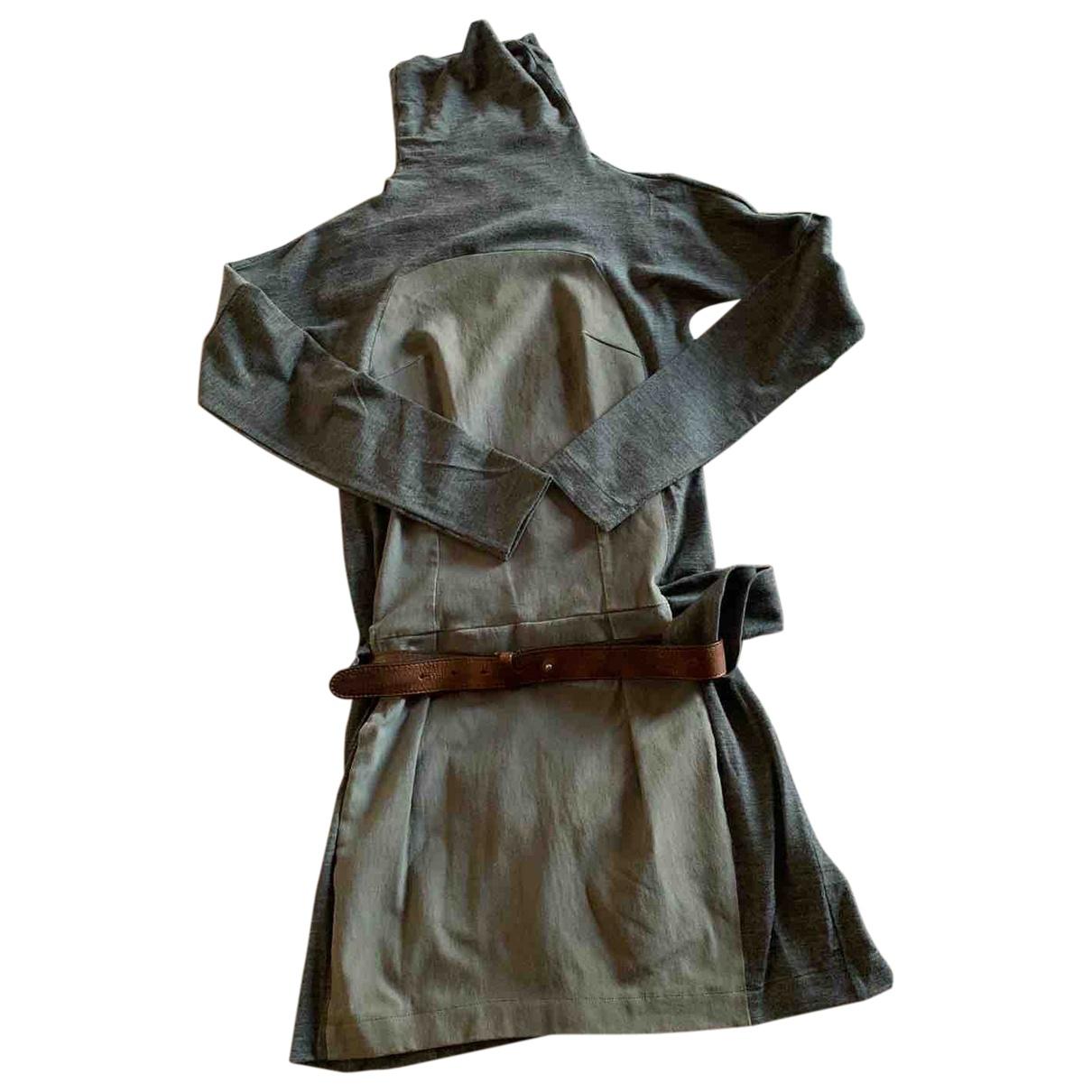Brunello Cucinelli - Robe   pour femme en laine - gris