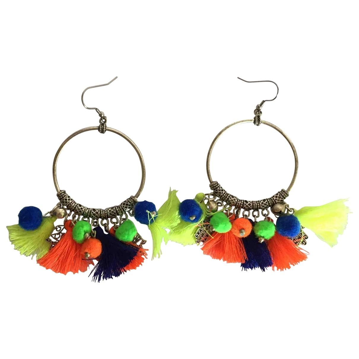 Non Signé / Unsigned Motifs Ethniques Multicolour Metal Earrings for Women \N