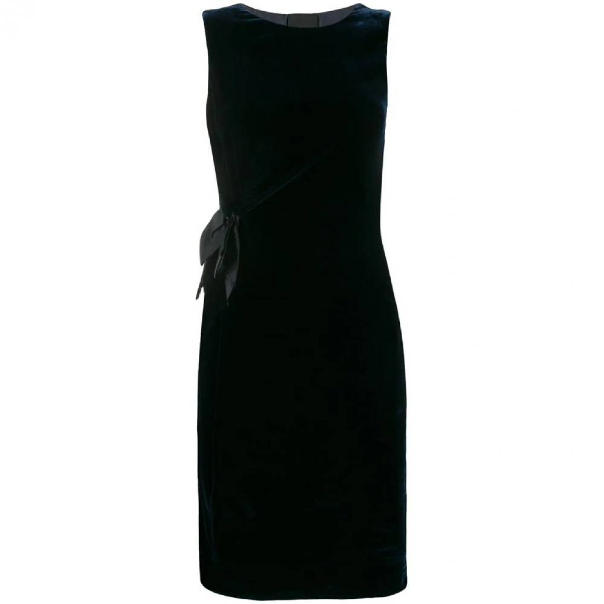 Lanvin \N Blue Velvet dress for Women 36 FR