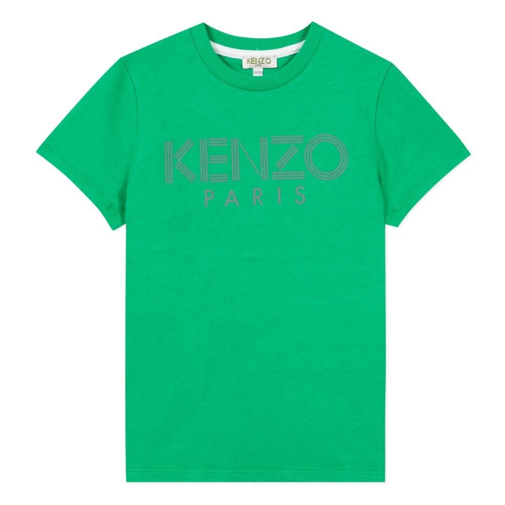 Kenzo Kids Paris Logo T-Shirt Green Colour: GREEN, Size: 6 YEARS