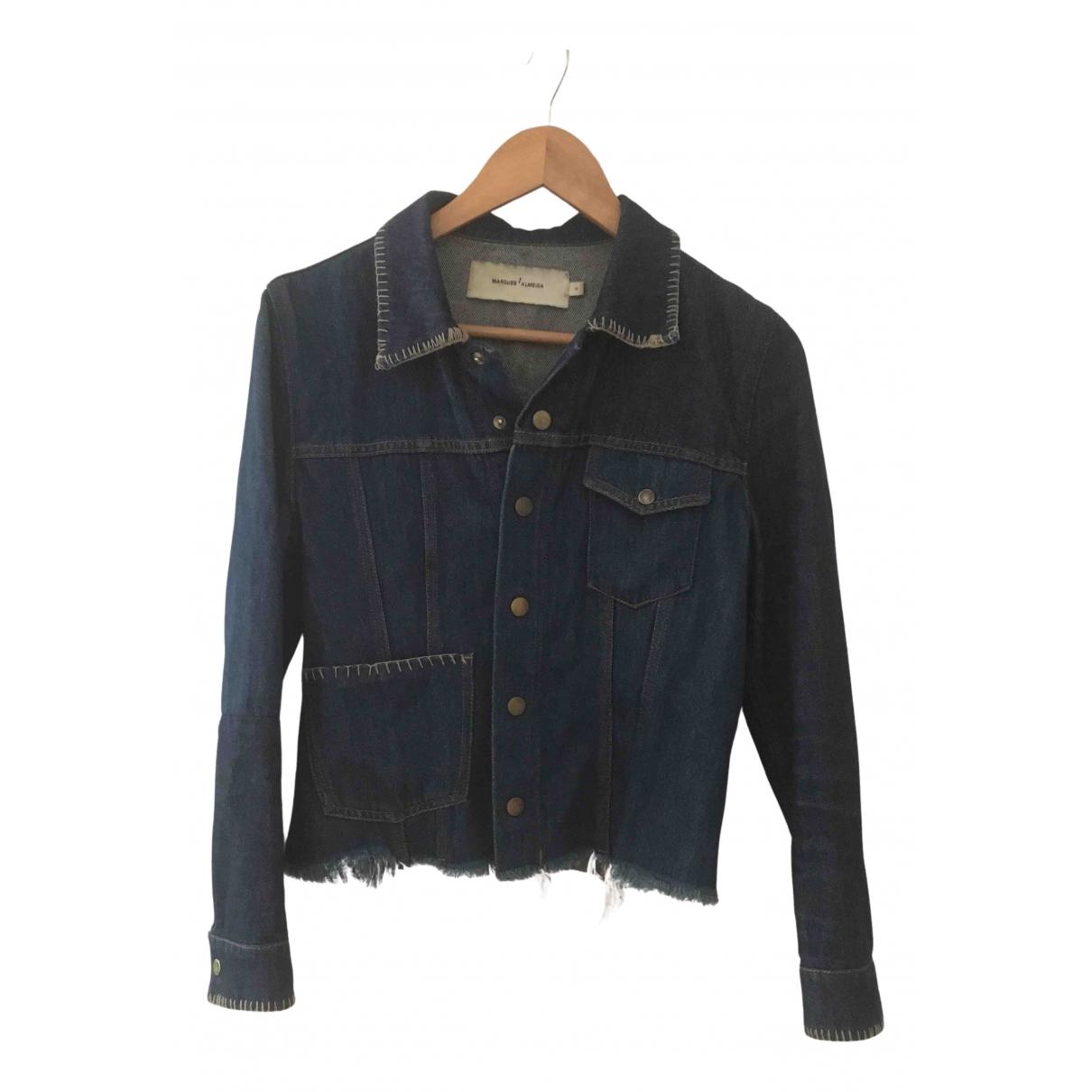 Marques Almeida N Blue Denim - Jeans jacket for Women S International