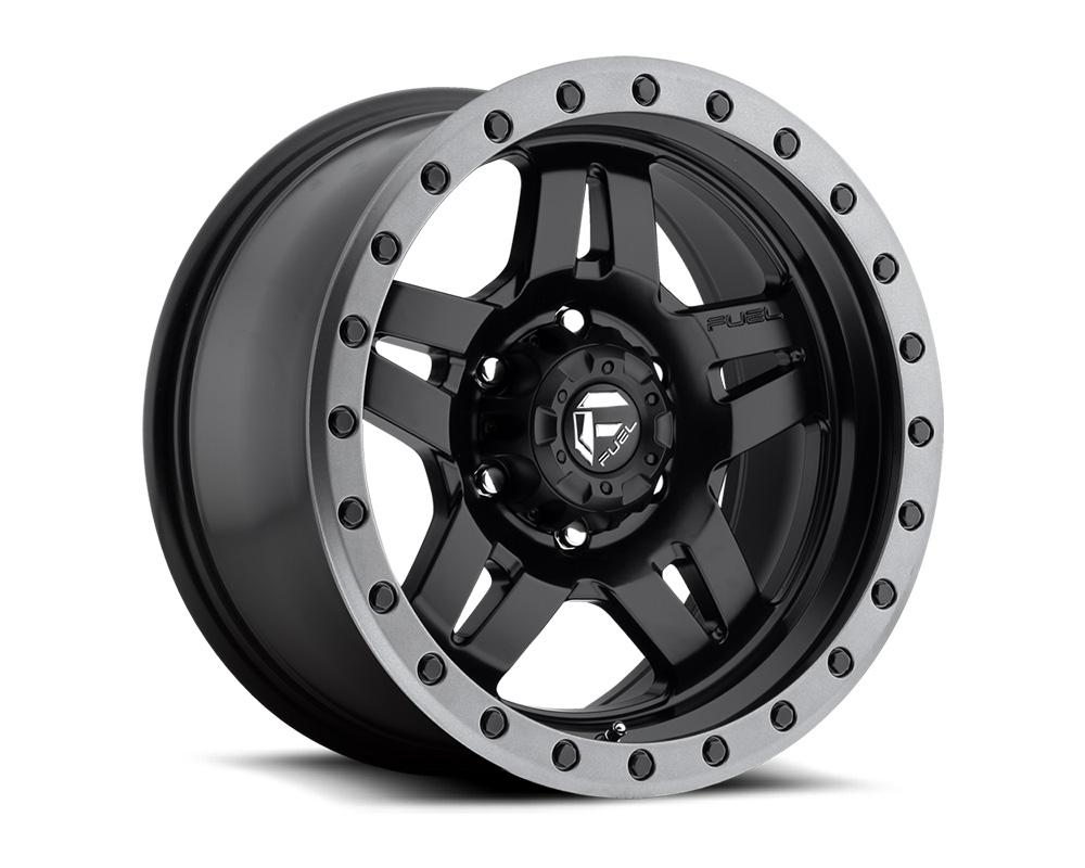 Fuel D557 Anza Matte Black w/ Anthracite Ring 1-Piece Cast Wheel 17x8.5 6x139.7 06mm