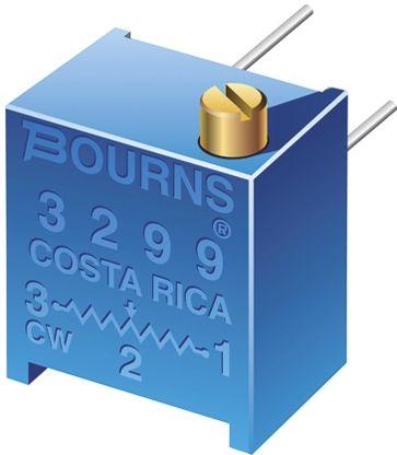 Bourns 10kΩ, Through Hole Trimmer Potentiometer 0.5W Side Adjust , 3299