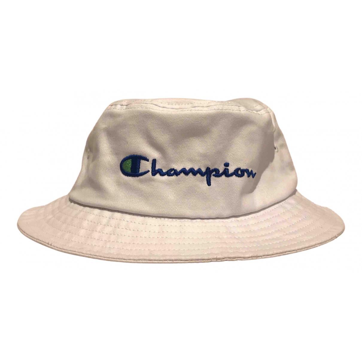 Champion - Chapeau   pour femme en toile - blanc