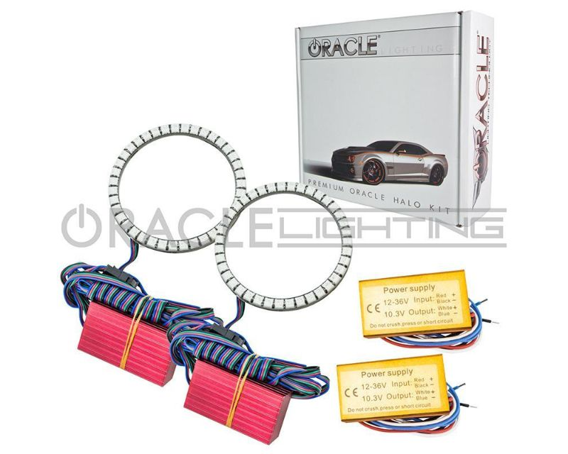 Oracle Lighting 1215-005 LED Fog Light Halo Kit - Waterproof Amber JEEP Wrangler JK 2007-2018