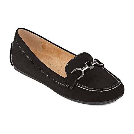Liz Claiborne Womens Ashton Loafers, 8 1/2 Medium, Black