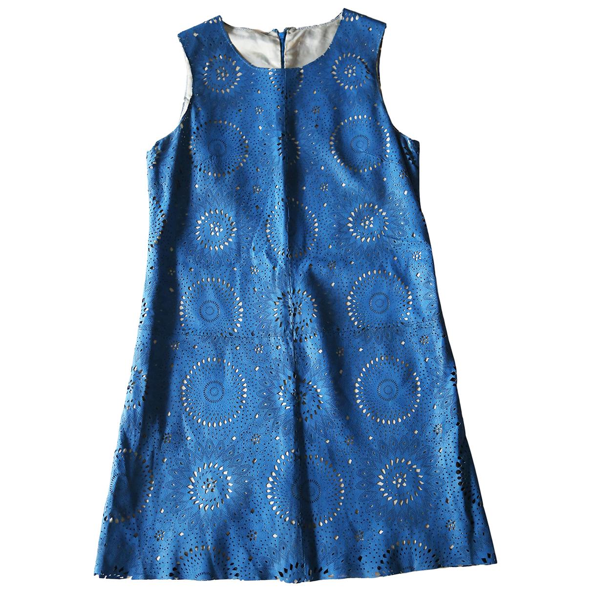 Asos \N Kleid in  Blau Leder
