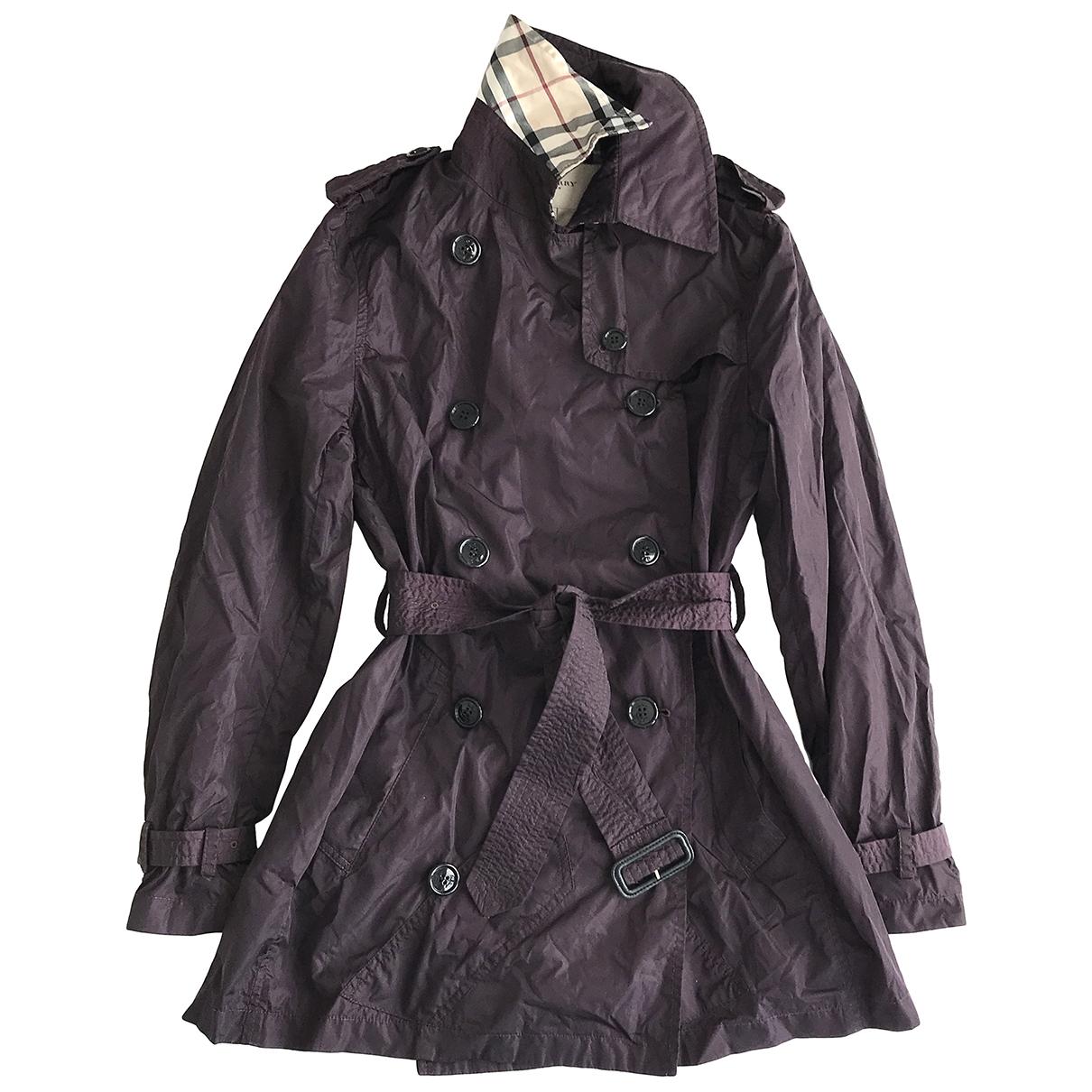 Burberry \N Purple Trench coat for Women 6 UK