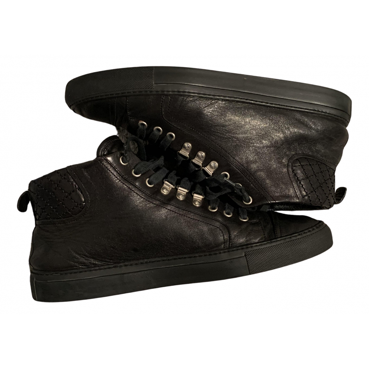 Balenciaga Arena Black Leather Trainers for Men 44 IT