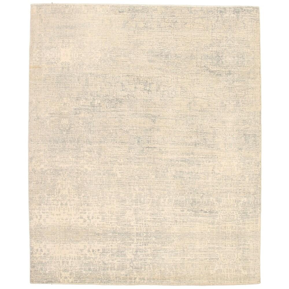 ECARPETGALLERY  Hand Loomed Gabbeh Luribaft Ivory Wool Rug - 8'1 x 9'10 (Ivory - 8'1 x 9'10)