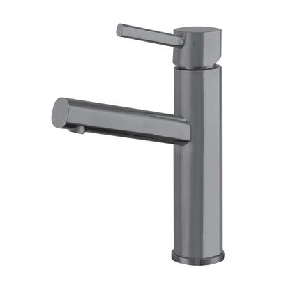 Waterhaus Collection WHS1206-SB-GM  Lead-Free Solid Stainless Steel Single lever Elevated Lavatory Faucet   in Gunmetal