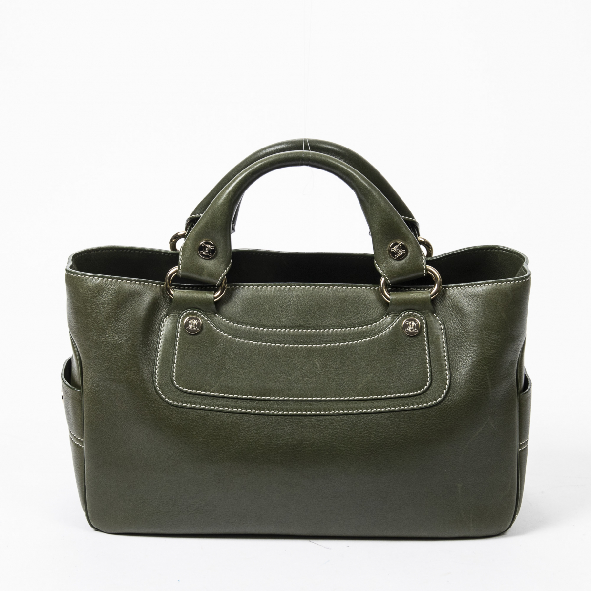 Celine Boogie Green Leather handbag for Women \N