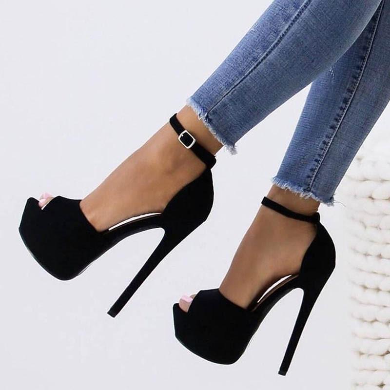 Ericdress Platform Peep Toe Stiletto Heel Women's Sandals