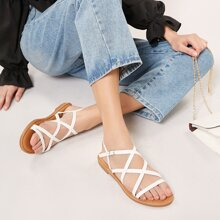 Open Toe Strappy Buckled Ankle Gladiator Sandals