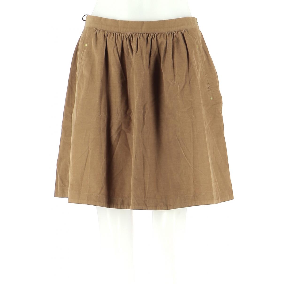 Comptoir Des Cotonniers \N Beige Cotton skirt for Women 42 FR
