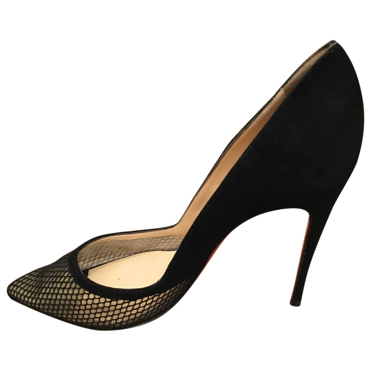 Christian Louboutin So Kate  Black Suede Heels for Women 35.5 EU