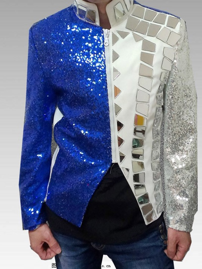 Ericdress Loose Punk Zipper Mens Leisure Blazers Suit