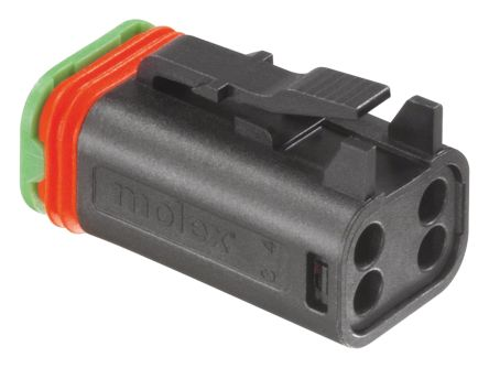 Molex , ML-XT Automotive Connector Plug 2 Row 4 Way, Crimp Termination, Black