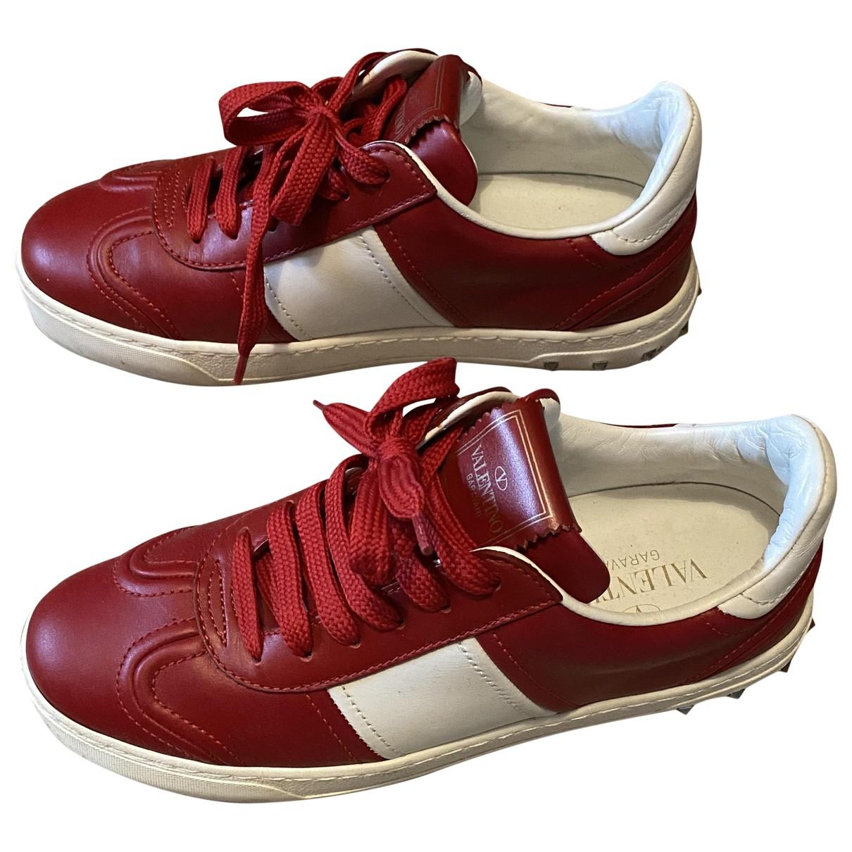 Valentino Garavani \N Sneakers in  Rot Leder