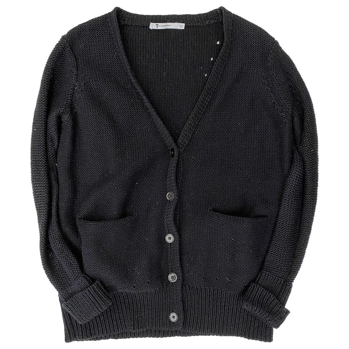 T By Alexander Wang - Pull   pour femme en coton - noir