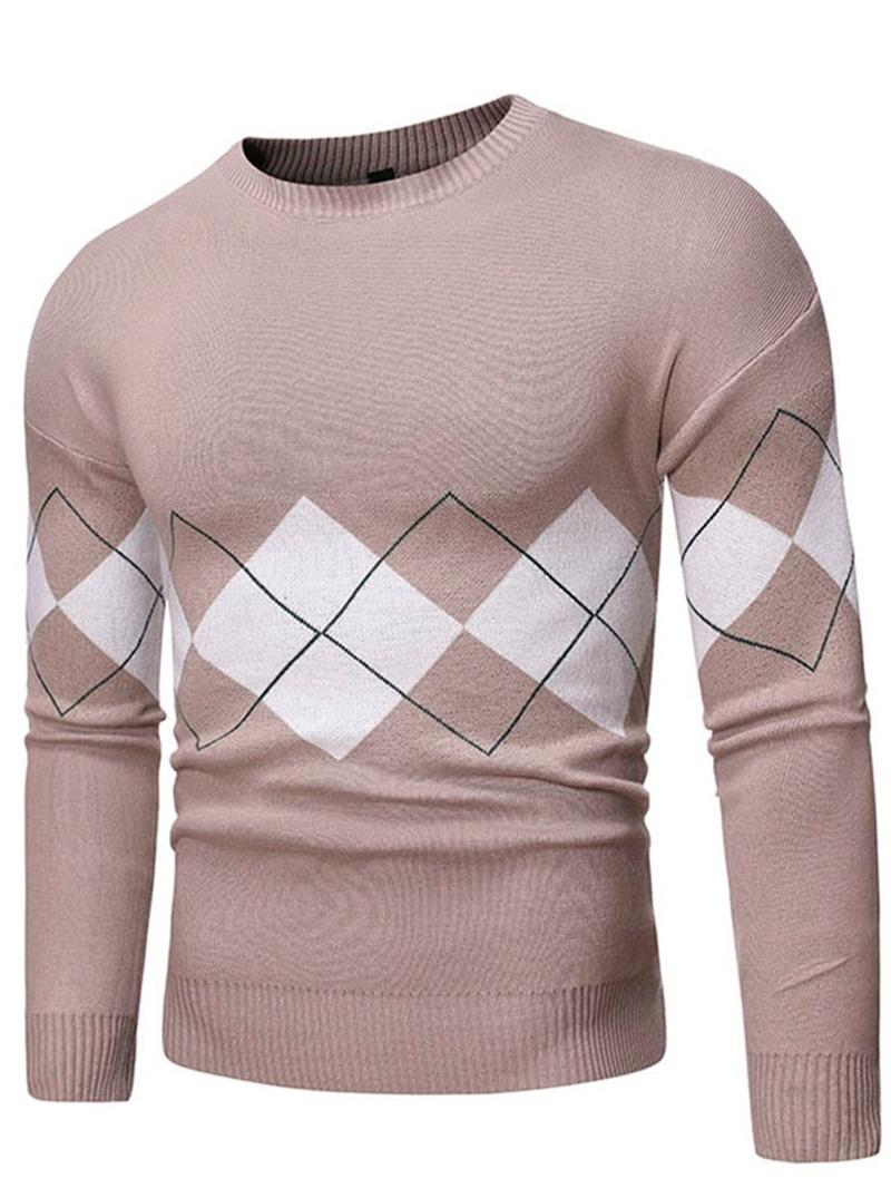 Ericdress Standard Geometric Round Neck Slim Casual Sweater