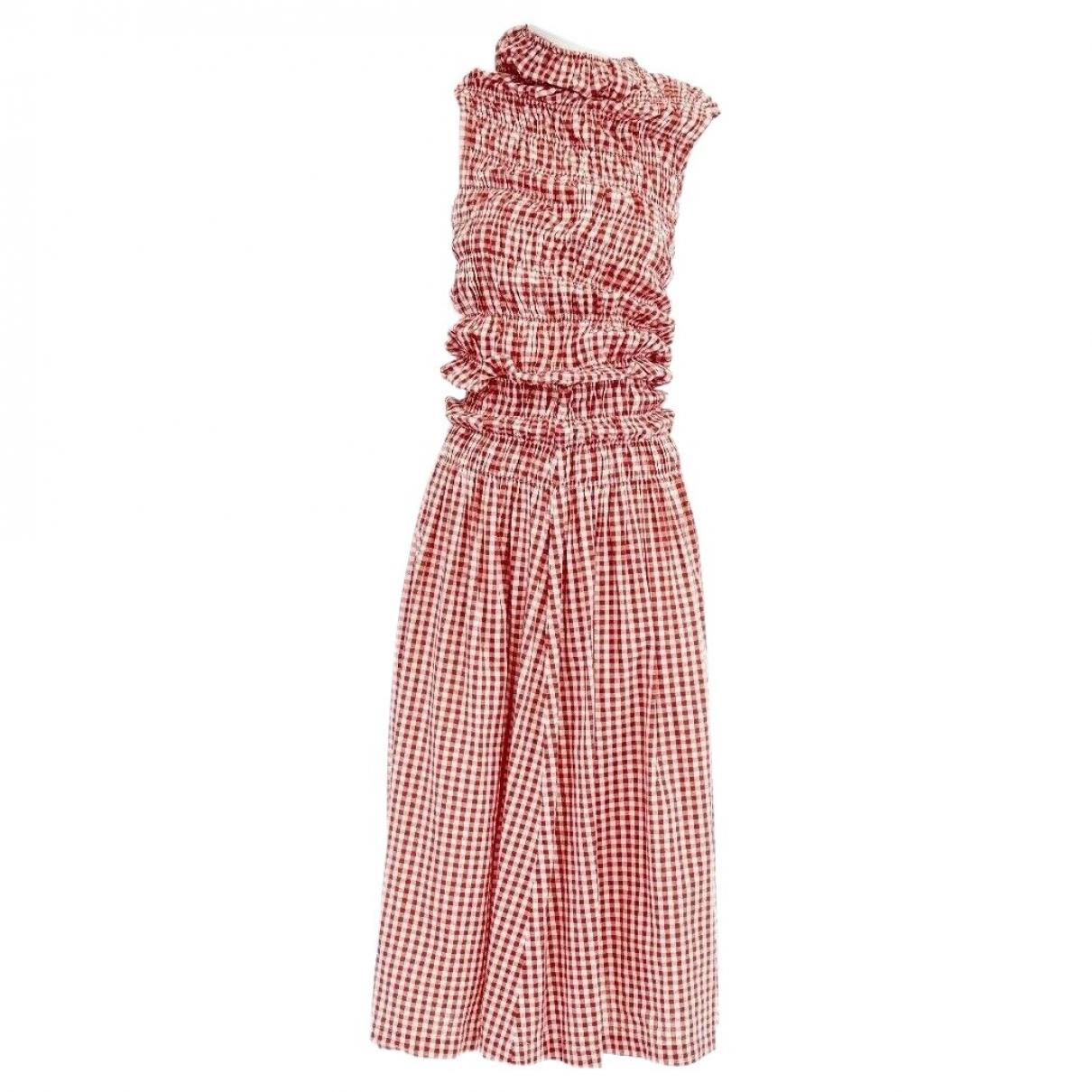Comme Des Garcons \N Kleid in  Rot Baumwolle