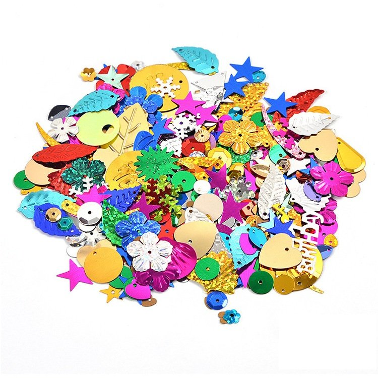 Mixed Plating Sequins DIY Handcraft Materials Shell Floral Star Sequins Early Education Handmade Toy