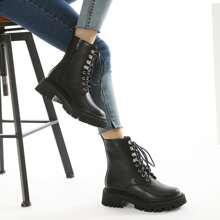 Minimalist Side Zip Combat Boots