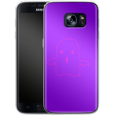 Samsung Galaxy S7 Silikon Handyhuelle - Cute Ghost von caseable Designs