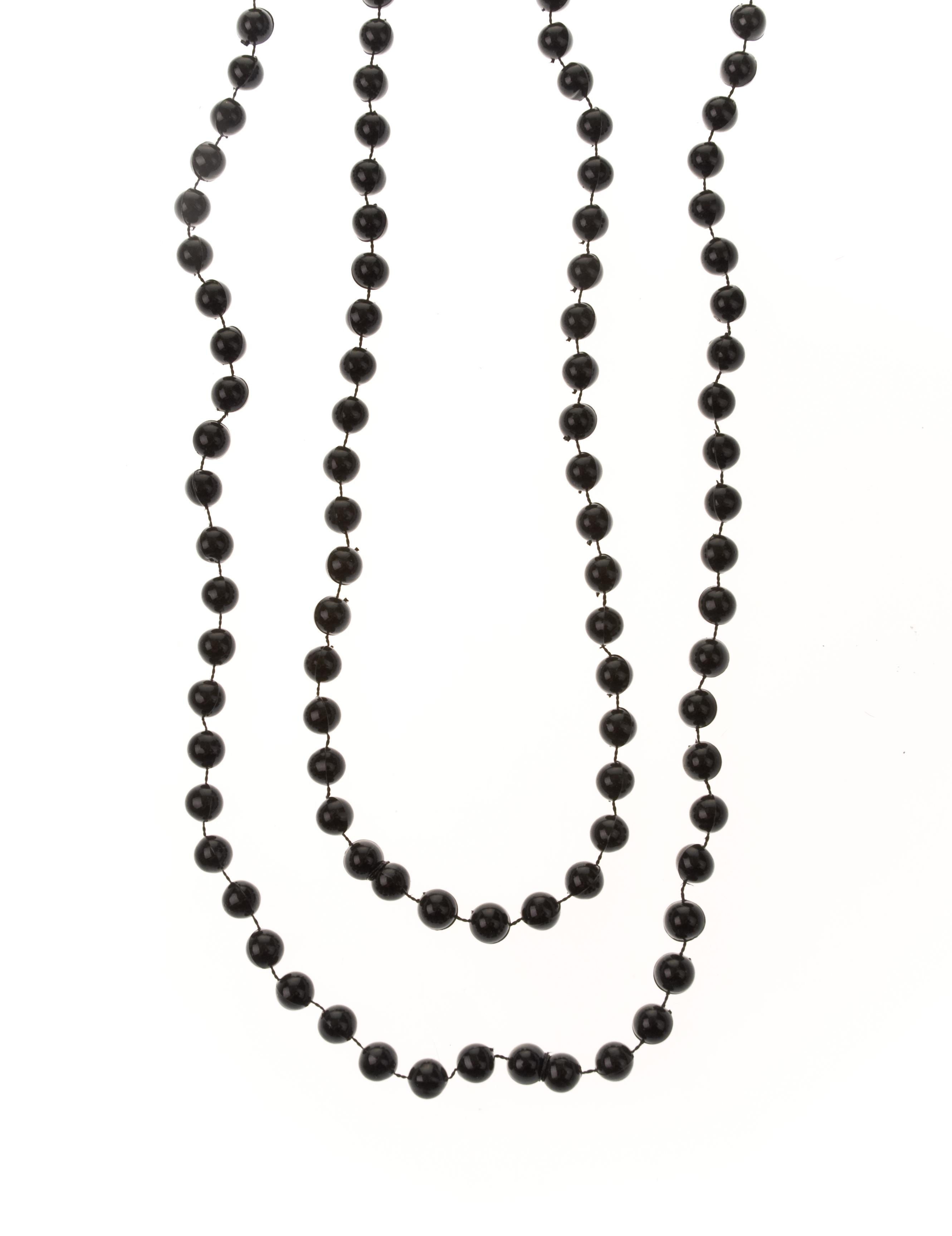 Kostuemzubehor Halskette Perlenduo schwarz