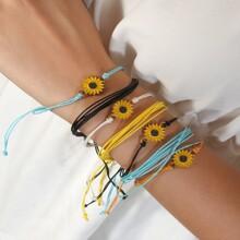 7pcs Daisy Decor String Bracelet