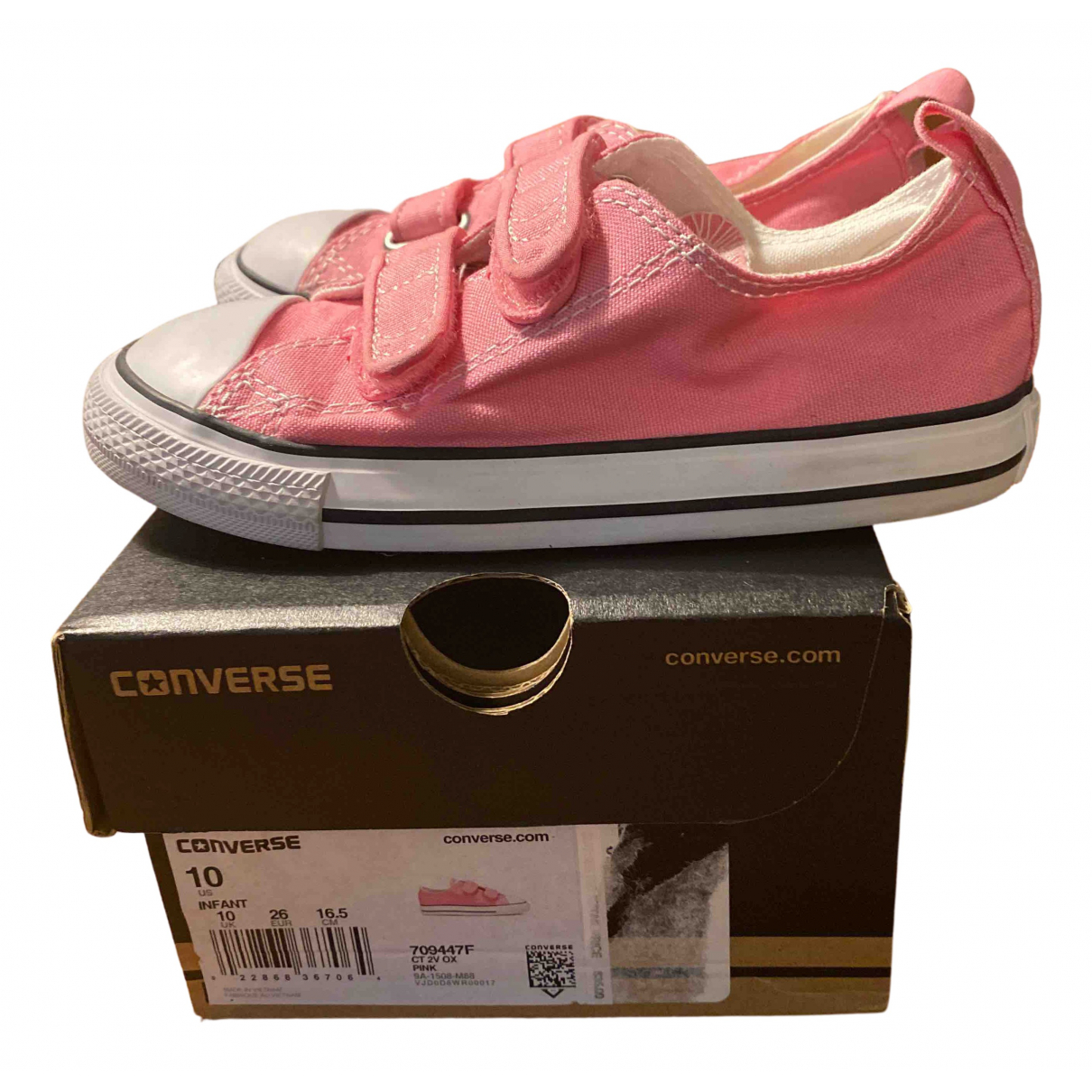 Converse N Pink Cloth Trainers for Kids 10 UK