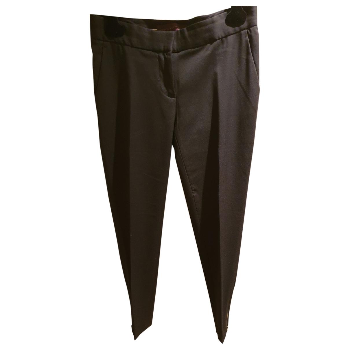 Stella Mccartney \N Black Wool Trousers for Women 38 FR