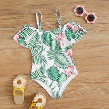 Toddler Girls Tropical Flounce One Piece Swimsuit