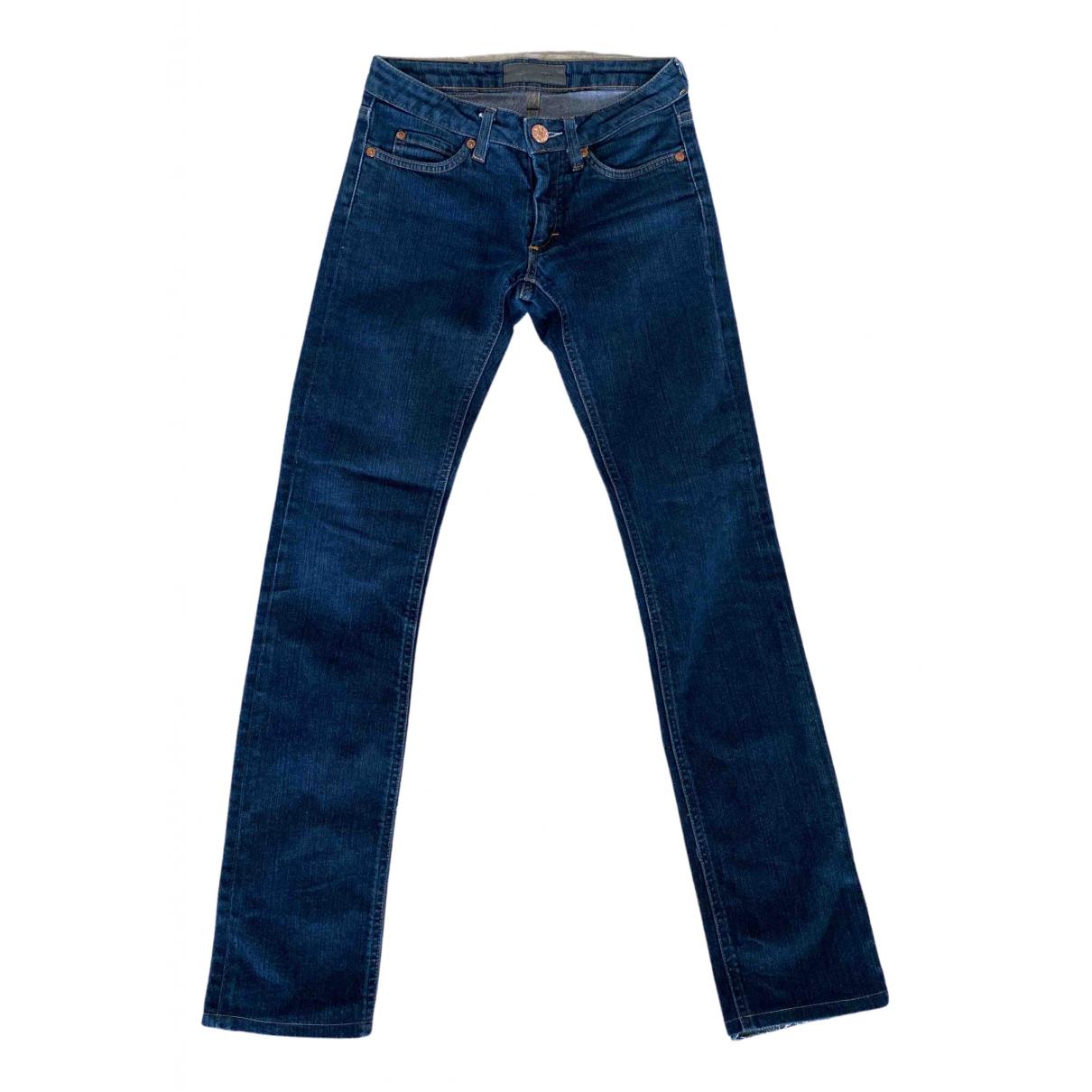 Acne Studios \N Blue Cotton Jeans for Women 28 US