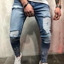 Men Extreme Distressing Jeans