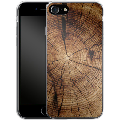 Apple iPhone 8 Silikon Handyhuelle - Tree Rings von caseable Designs