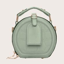 Bolsa cartera mini con diseño de cocodrilo con hebilla